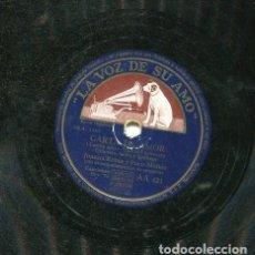 Discos de pizarra: JUANITA REINA / COPLILLA DE LA FEA / CARTA DE AMOR (LA VOZ DE SU AMO AA 421). Lote 206307356
