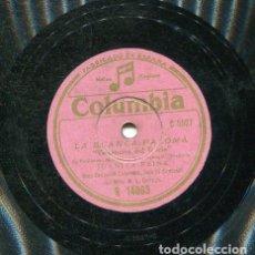 Discos de pizarra: JUANITA REINA / VIRGENCITA DEL ROCIO / DALE QUE DALE (COLUMBIA R 14063). Lote 206307523