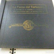 Discos de pizarra: ANTIGUO ALBUM DISCOS GAMOFONO LA FAMA DEL TARTANERO, SELECCION DE LA ZARZUELA- 4 DISCOS. Lote 206384760