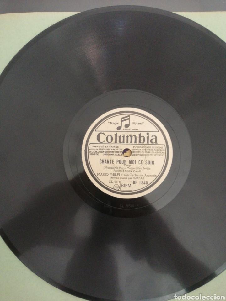 Discos de pizarra: Disco de pizarra 78rpm-Mario Melfi-NE M, OUBLIE PAS/CHANTE POUR MOI CE SOIR. - Foto 2 - 206439485