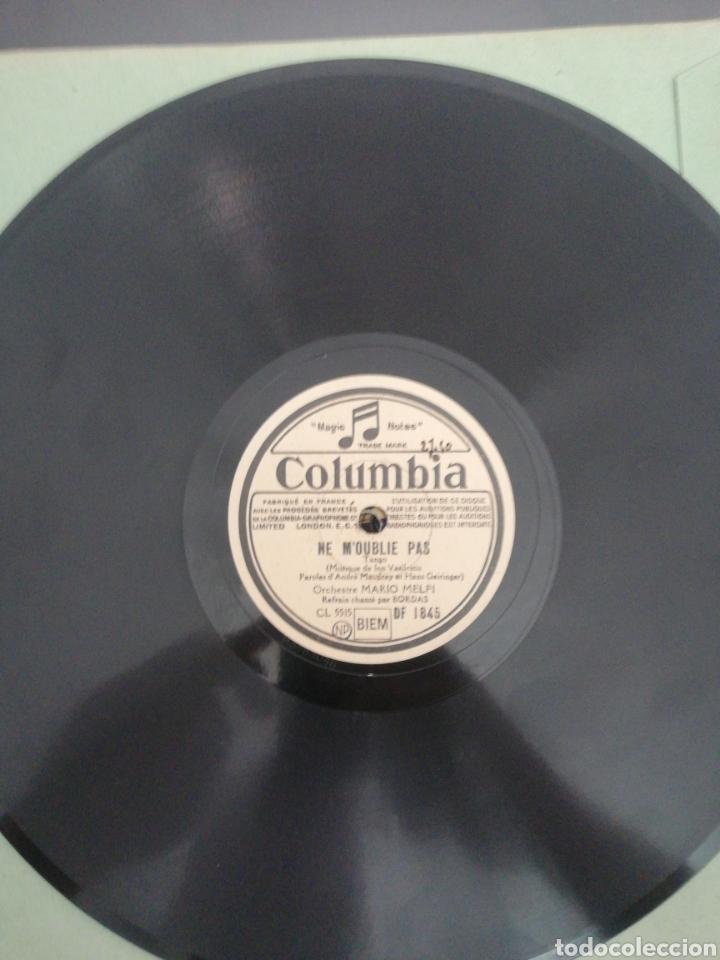 DISCO DE PIZARRA 78RPM-MARIO MELFI-NE M, OUBLIE PAS/CHANTE POUR MOI CE SOIR. (Música - Discos - Pizarra - Solistas Melódicos y Bailables)