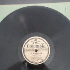 Discos de pizarra: DISCO DE PIZARRA 78RPM-MARIO MELFI-NE M, OUBLIE PAS/CHANTE POUR MOI CE SOIR.. Lote 206439485