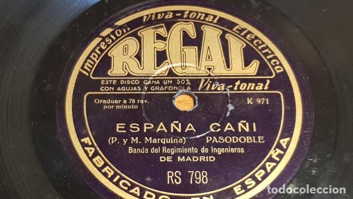 Discos de pizarra: PIZARRA !! BANDA REGIMIENTO DE INGENIEROS DE MADRID / LOS VOLUNTARIOS-ESPAÑA CAÑI / 25 CM - Foto 2 - 206479117