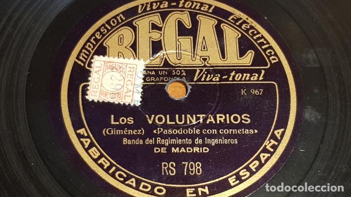 PIZARRA !! BANDA REGIMIENTO DE INGENIEROS DE MADRID / LOS VOLUNTARIOS-ESPAÑA CAÑI / 25 CM (Música - Discos - Pizarra - Otros estilos)