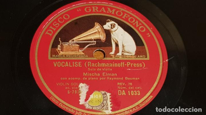 Discos de pizarra: PIZARRA !! MISCHA ELMAN / CAPRICHO EN MI BEMOL MAYOR-VOCALISE / 25 CM - Foto 2 - 206483092