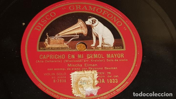 PIZARRA !! MISCHA ELMAN / CAPRICHO EN MI BEMOL MAYOR-VOCALISE / 25 CM (Música - Discos - Pizarra - Otros estilos)