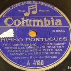 Discos de pizarra: PIZARRA !! COROS DEL ORFEÓN BURGALÉS Y BANDA REGIMIENTO SAN MARCIAL 22 DE BURGOS / LEER. Lote 206484851