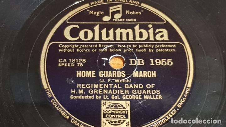 Discos de pizarra: PIZARRA !! REGIMENTAL BAND OF H.M. GRENADIER GUARDS / GEORGE MILLER / 25 CM - LEER - Foto 2 - 206487133