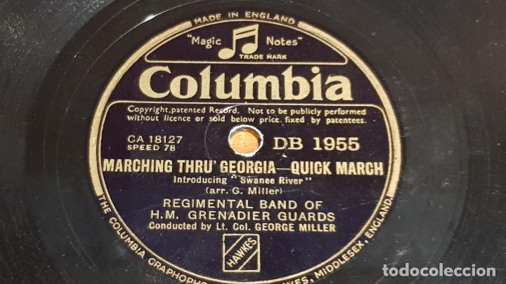 PIZARRA !! REGIMENTAL BAND OF H.M. GRENADIER GUARDS / GEORGE MILLER / 25 CM - LEER (Música - Discos - Pizarra - Otros estilos)