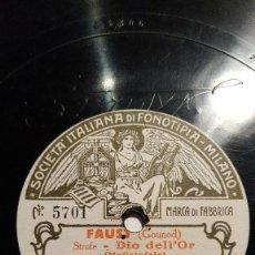 Discos de pizarra: DISCO 78 RPM - FONOTIPIA - ADAMO DIDUR - BAJO - FAUSTO - GOUNOD - MEFISTOFELE - OPERA - PIZARRA. Lote 206816367