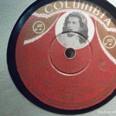 Discos de pizarra: PIZARRA - COLUMBIA R 14829 - LOLITA GARRIDO - CHIQUITA BACANA, BOLERO. Lote 206947305