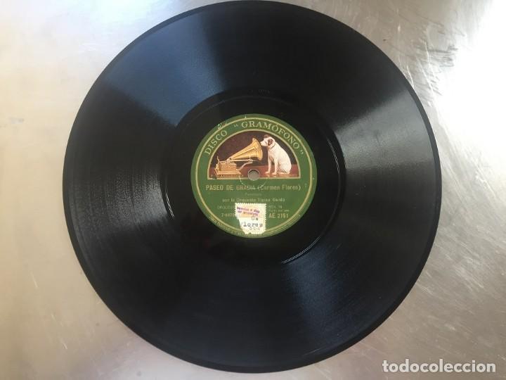 Discos de pizarra: DISCO PIZARRA CARMEN FLORES. SOY DE SEVILLA - PASEO DE GRACIA - Foto 5 - 207120340