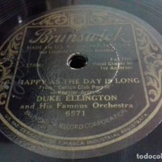 Discos de pizarra: DUKE ELLINGTON- HAPPY AS THE DAY LONG/ RAISIN' THE RENT- BRUNSWICK-N°6571. Lote 207124746