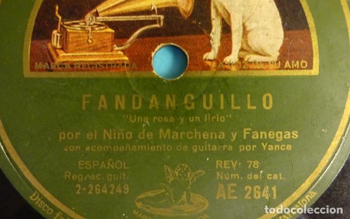 Discos de pizarra: EL NIÑO DE MARCHENA ACOMPAÑADO POR R. MONTOYA. TARANTOS DE MARCHENA Y FANDANGUILLO. ¡¡ ROTO !! - Foto 5 - 184102023