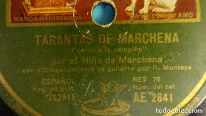 Discos de pizarra: EL NIÑO DE MARCHENA ACOMPAÑADO POR R. MONTOYA. TARANTOS DE MARCHENA Y FANDANGUILLO. ¡¡ ROTO !! - Foto 6 - 184102023