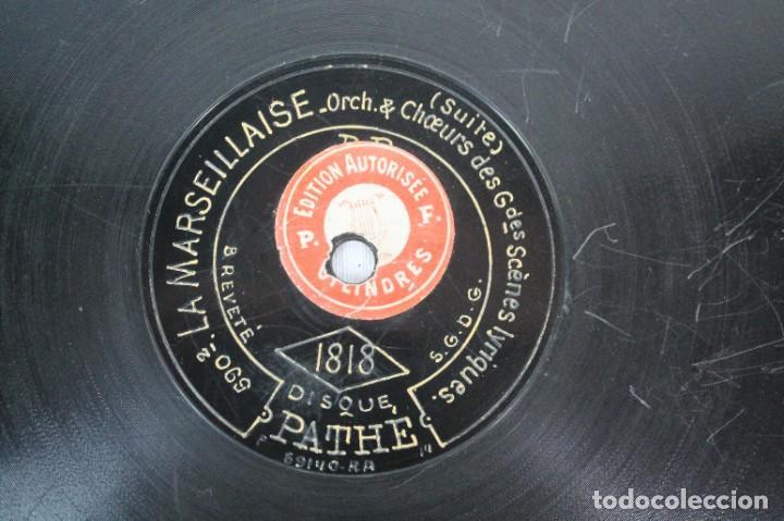 Discos de pizarra: DISCO DE PIZARRA PATHE AÑO 1.818- LA MARSELLESA - Foto 2 - 207415226