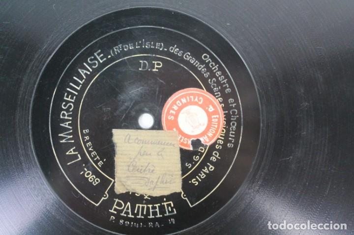 Discos de pizarra: DISCO DE PIZARRA PATHE AÑO 1.818- LA MARSELLESA - Foto 3 - 207415226