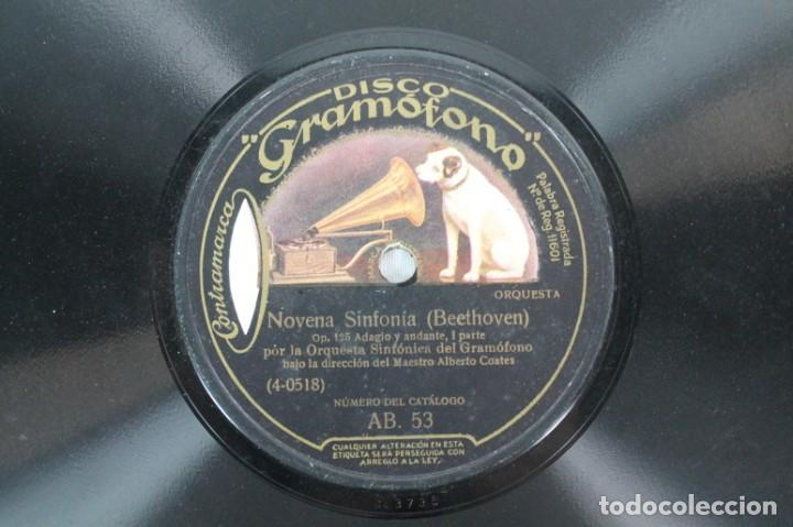 Discos de pizarra: DISCO DE PIZARRA BEETHOVEN -- NOVENA SINFONIA - Foto 2 - 207417083