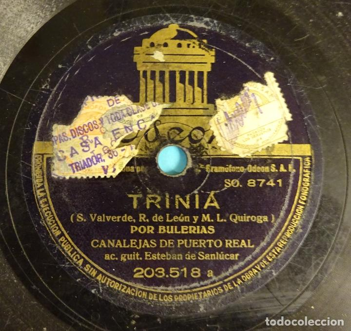 Discos de pizarra: CANALEJAS DE PUERTO REAL. GUITARRA ESTEBAN DE SANLÚCAR. BULERÍAS / FANDANGOS - Foto 2 - 207556613