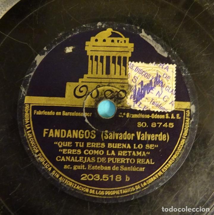 Discos de pizarra: CANALEJAS DE PUERTO REAL. GUITARRA ESTEBAN DE SANLÚCAR. BULERÍAS / FANDANGOS - Foto 5 - 207556613