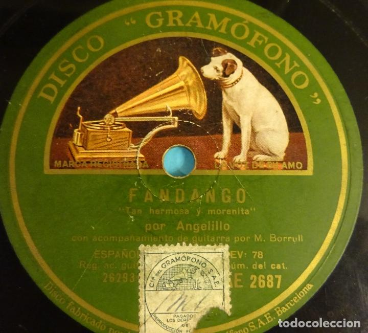 Discos de pizarra: AGELILLO. GUITARRA M. BORRULL. CARACOLES / FANDANGOS - Foto 2 - 207557190