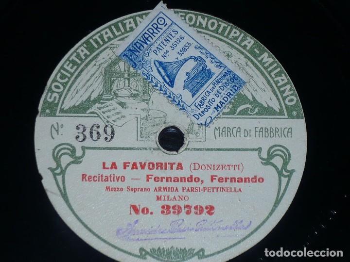 DISCO 78 RPM - FONOTIPIA - ARMIDA PARSI PETTINELLA - LA FAVORITA - DONIZETTI - OPERA - PIZARRA (Música - Discos - Pizarra - Clásica, Ópera, Zarzuela y Marchas)