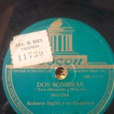 Discos de pizarra: 3 PALABRAS. DOS SOMBRAS.. Lote 208823855