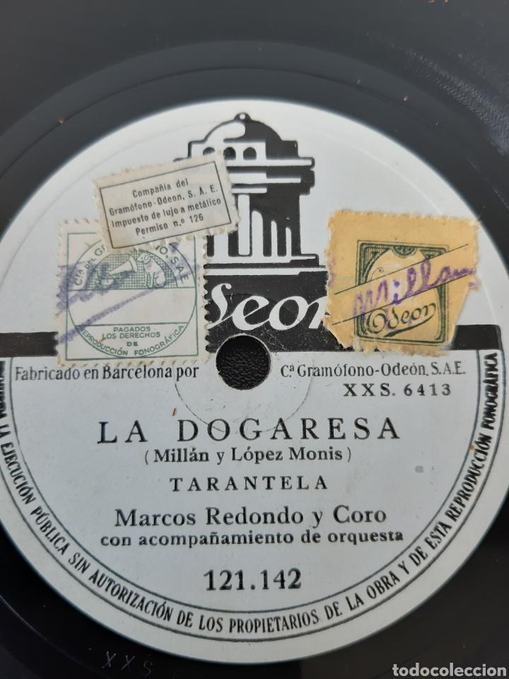 Discos de pizarra: MARCOS REDONDO Y CORO CON ACOMPAÑAMIENTO DE ORQUESTA. LA ASACIANA+1 ODEON. XXS 6413. AÑO (1930-1940) - Foto 3 - 208842760