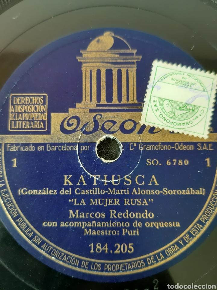 Discos de pizarra: MARCO REDONDO CON ACOMPAÑAMIENTO DE ORQUESTA. 184.205. ODEON. - Foto 2 - 208843072