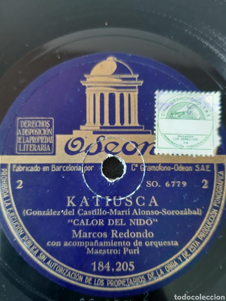 Discos de pizarra: MARCO REDONDO CON ACOMPAÑAMIENTO DE ORQUESTA. 184.205. ODEON. - Foto 3 - 208843072