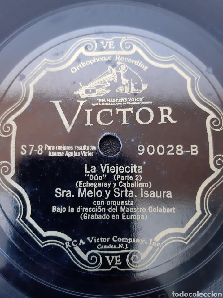 Discos de pizarra: SRA. MELO Y SRTA. ISAURA. LA VIEJECITA. RCA Victor. 90028 - Foto 2 - 208845380