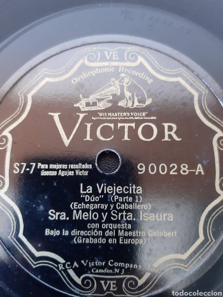 Discos de pizarra: SRA. MELO Y SRTA. ISAURA. LA VIEJECITA. RCA Victor. 90028 - Foto 3 - 208845380