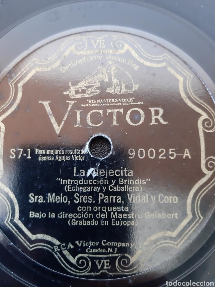 Discos de pizarra: SRA. MELO, SRES PARRA, VIDAL, GORGÉ Y CORO. LA VIEJECITA. 90025-A. RCA VICTOR. - Foto 2 - 208846892