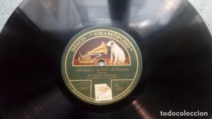 DISCO PIZARRA LA CELOSA MANUEL ROMERO TANGO Y CABALLO BAYO MALAMBO POR IMPERIO ARGENTINA (Música - Discos - Pizarra - Flamenco, Canción española y Cuplé)
