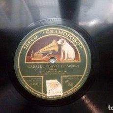 Discos de pizarra: DISCO PIZARRA LA CELOSA MANUEL ROMERO TANGO Y CABALLO BAYO MALAMBO POR IMPERIO ARGENTINA. Lote 208952540