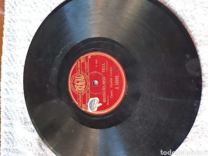 Discos de pizarra: Guglielmo tell y trovador tenor hipólito lazaro - Foto 2 - 209119708