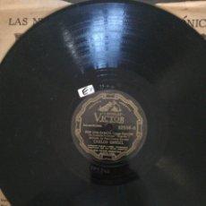 Discos de pizarra: DISCO DE PIZARRA DE 78RPM-CARLOS GARDEL-POR UNA CABEZA/LOS OJOS DE MI MOZA.. Lote 209119563