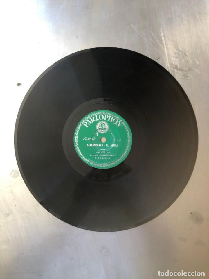 DISCO DE PIZARRA JOSÉ CHACÓN: SALOMÓN, EL RÍO MARTÍN Y LA FIERA - ZARAGOZANAS, EL AGUILA (Música - Discos - Pizarra - Flamenco, Canción española y Cuplé)