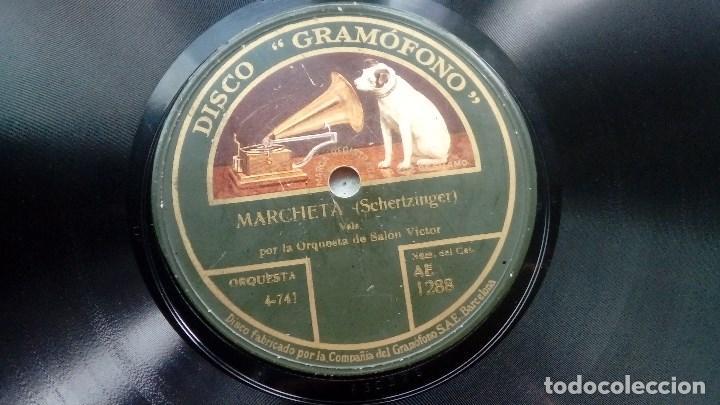 DISCO PIZARRA MARCHETA DE CHERTZINGER Y NIGHTINGALE DE BROCKMAN DISCO GRAMOFONO (Música - Discos - Pizarra - Bandas Sonoras y Actores )