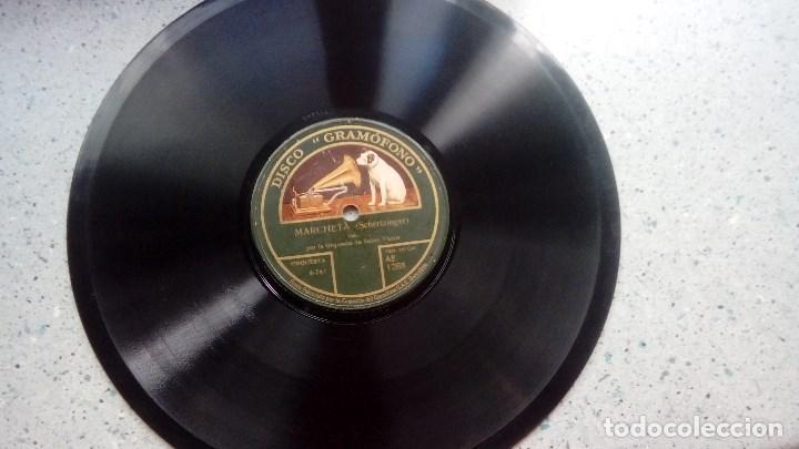 Discos de pizarra: DISCO PIZARRA MARCHETA DE CHERTZINGER Y NIGHTINGALE DE BROCKMAN DISCO GRAMOFONO - Foto 2 - 209250923
