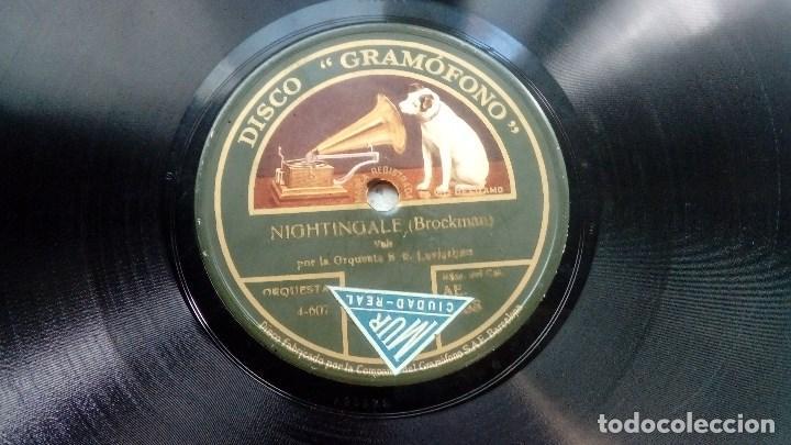 Discos de pizarra: DISCO PIZARRA MARCHETA DE CHERTZINGER Y NIGHTINGALE DE BROCKMAN DISCO GRAMOFONO - Foto 3 - 209250923