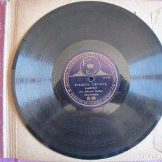 Discos de pizarra: MANUEL VALLEJO / MALAGUEÑAS / FIESTA GITANA (REGAL RS 316). Lote 209314908