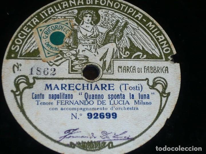 DISCO 78 RPM - FONOTIPIA - FERNANDO DE LUCIA - MARECHIARE - TOSTI - LU CARDILLO - IGNOTO - PIZARRA (Música - Discos - Pizarra - Clásica, Ópera, Zarzuela y Marchas)