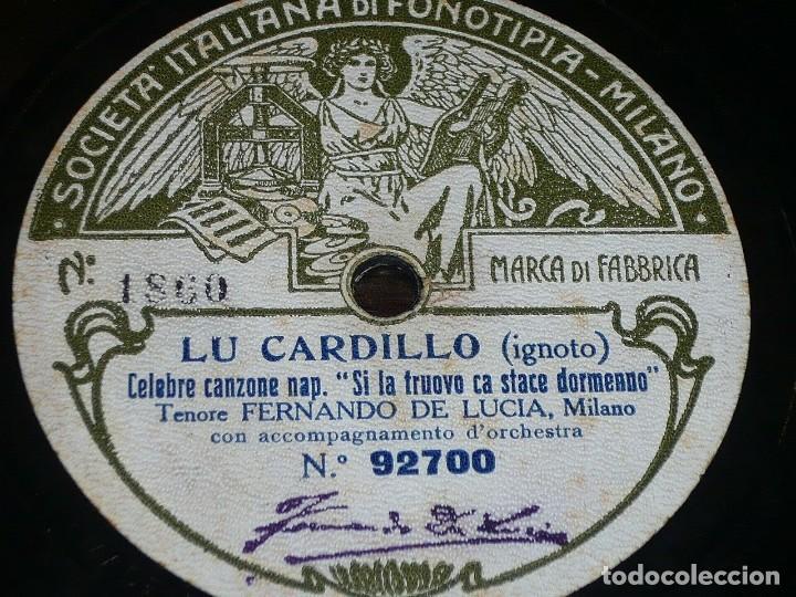 Discos de pizarra: DISCO 78 RPM - FONOTIPIA - FERNANDO DE LUCIA - MARECHIARE - TOSTI - LU CARDILLO - IGNOTO - PIZARRA - Foto 2 - 209612335