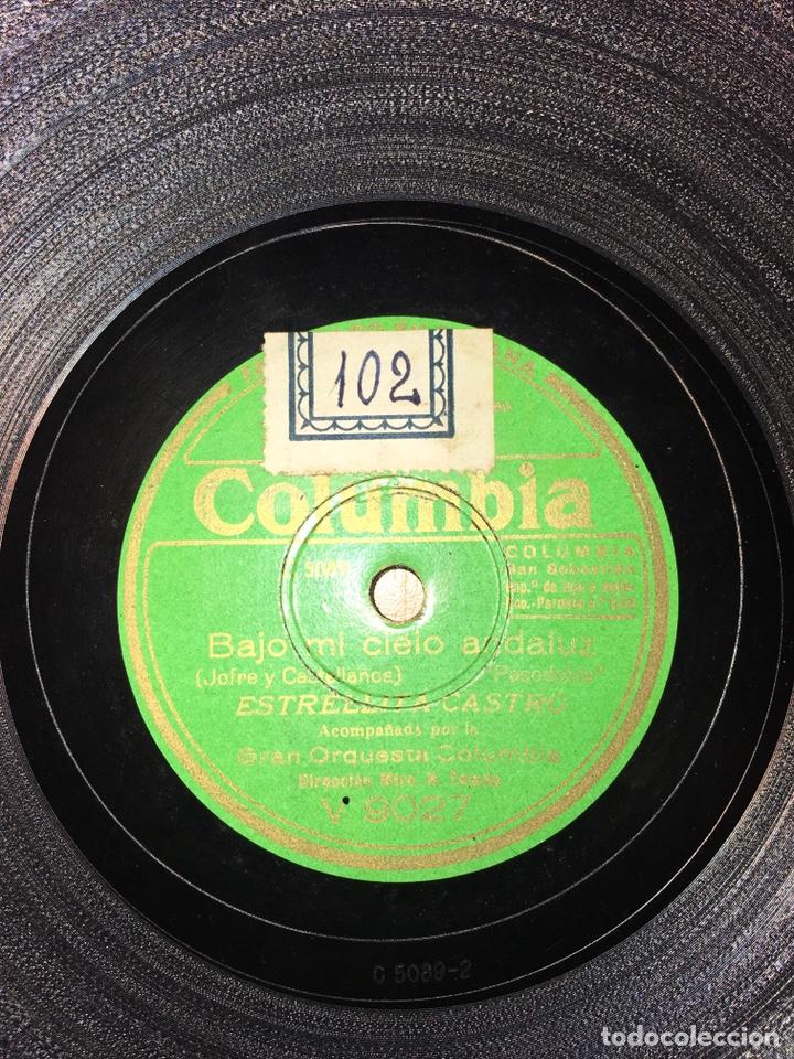 ESTRELLITA CASTRO - BAJO EL CIELO ANDALUZ - LA CINTERA (Música - Discos - Pizarra - Flamenco, Canción española y Cuplé)