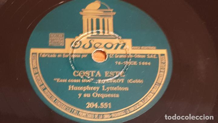 PIZARRA !! HUMPHREY LYTTELTON Y SU ORQUESTA / COSTA ESTE - BRISA / 25 CM / LEER. (Música - Discos - Pizarra - Solistas Melódicos y Bailables)