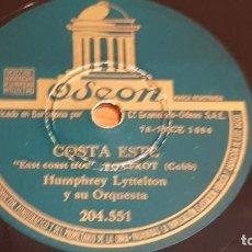 Discos de pizarra: PIZARRA !! HUMPHREY LYTTELTON Y SU ORQUESTA / COSTA ESTE - BRISA / 25 CM / LEER.. Lote 210230841