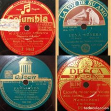 Discos para gramofone: ÁLBUM CON 15 DISCOS PIZARRA 30 CM PARA GRAMÓFONO DE DIVERSOS ESTILOS, FOTOGRAFÍAS DE TODOS. Lote 210307230
