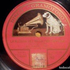 Discos de pizarra: DISCO GRAMÓFONO DA 762 - ANTONIO CORTIS - UNA VIEJA - GAZTAMBIDE - LA ALEGRÍA DEL BATALLÓN - SERRANO. Lote 210470300