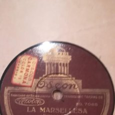 Discos de pizarra: MARCOS REDONDO. HIMNO DE RIEGO Y LA MARSELLESA. DISCO ODEON. Lote 210484952